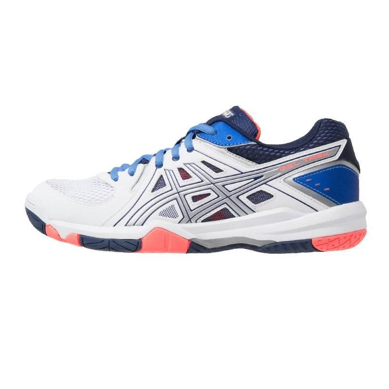 Asics Gel Task Women [White - Powder Blue - Flash Coral]