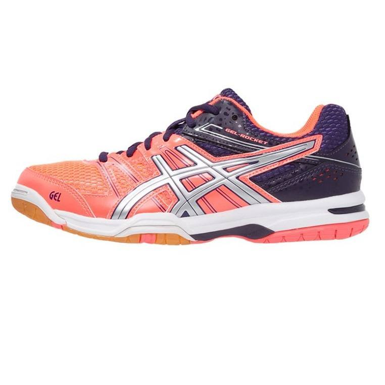 Asics Gel Rocket 7 Women - Flash Coral / Silver / Darkberry