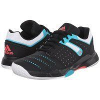 Adidas Court Stabil 12 Women - Black White Shock Green