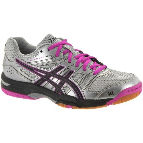 Asics Gel Rocket 7 Women - Silver Black Pinkjpg