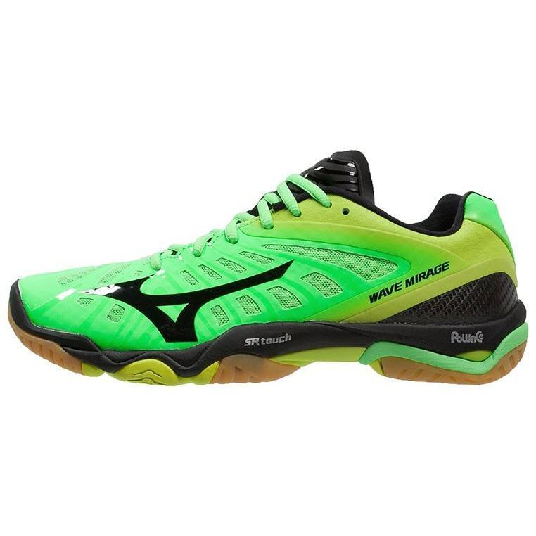 mizuno-wave-mirage-green-black-yellow