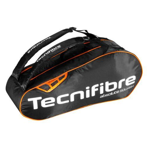 Tecnifibre Absolute Squash 6 Racket Bag - Orange