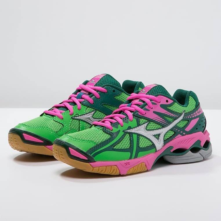 Mizuno Wave Bolt 4 Women - Green Pink
