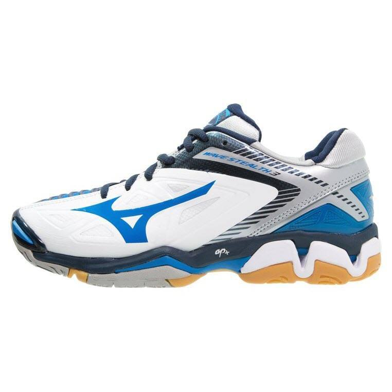 Mizuno Wave Stealth 3 Men - White Blue