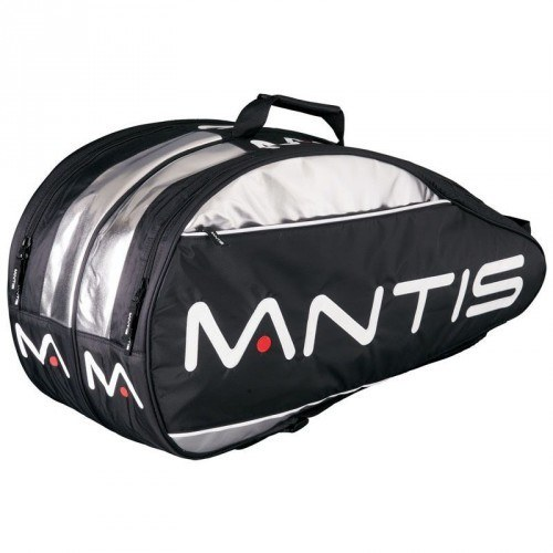 Mantis Thermo Bag 6 Racket - Black Silver