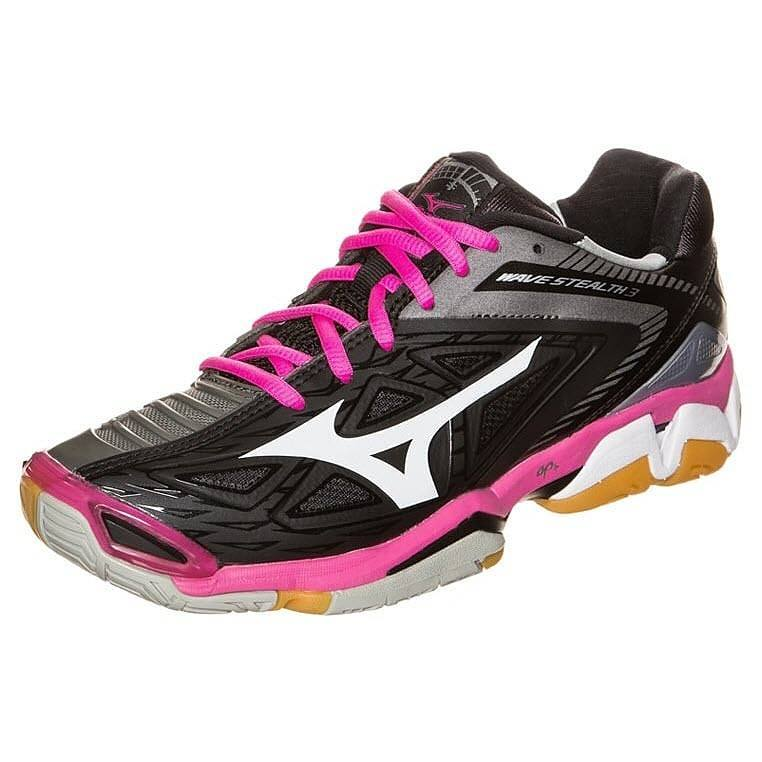 Mizuno Wave Stealth 3 Women - Black Gray Pink