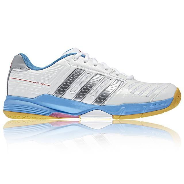 Adidas Court Stabil 10 Women - White and Light Blue