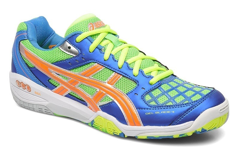 Asics Gel Blade 4 Men - Blue Green Orange Yellow