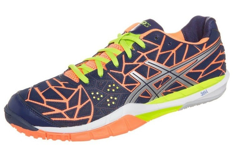 Asics Gel Fireblast Men Blue Orange