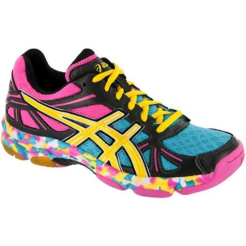 Asics Gel Flashpoint Women - Black Yellow Pink