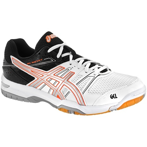 Asics Gel Rocket 7 Men - Black White Orange