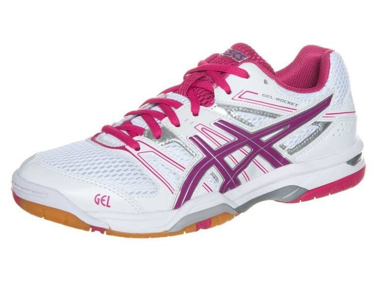Asics Gel Rocket 7 Women - White Pink Purple