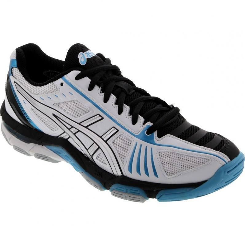 Asics Gel Volley Elite 2 Squash Shoes - White Black Blue