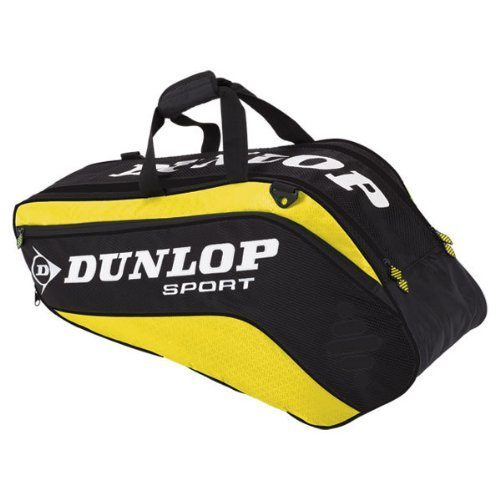 dunlop-biomimetic-tour-6-squash-bag-yellow