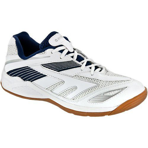 Hi-Tec Viper Court Shoes White Navy Silver