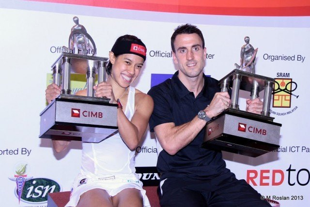 CIMB Malaysian Open 2013 - Nicol David and Peter Barker