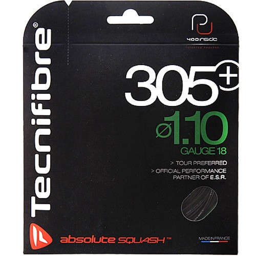 Tecnifibre 305+ 1.1 Black Squash Strings