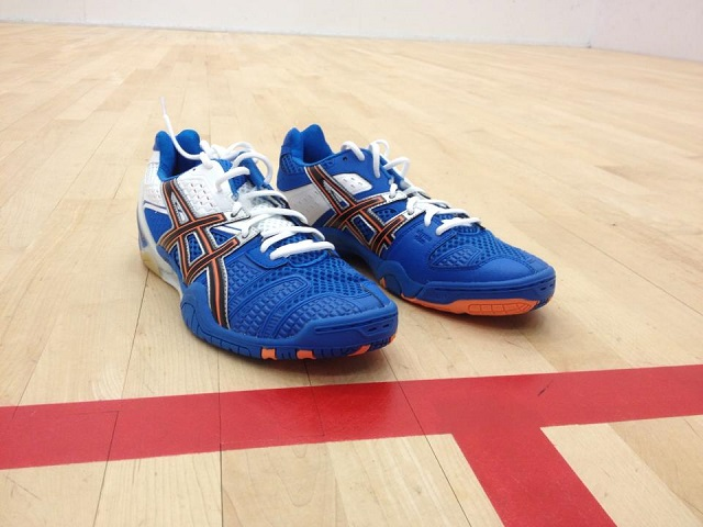 Blue Asics Squash Shoes