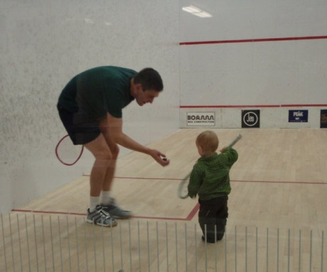 Sport of squash | Squash game with my son
