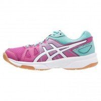 Asics Gel Upcourt Junior - Berry/Pink, White, Pool Blue