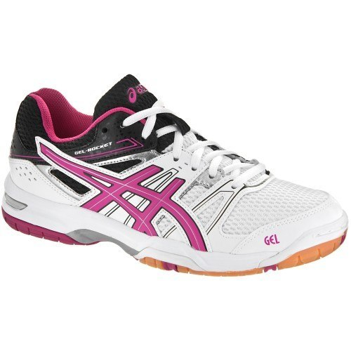 Asics Gel Rocket 7 Women [White Magenta Black]