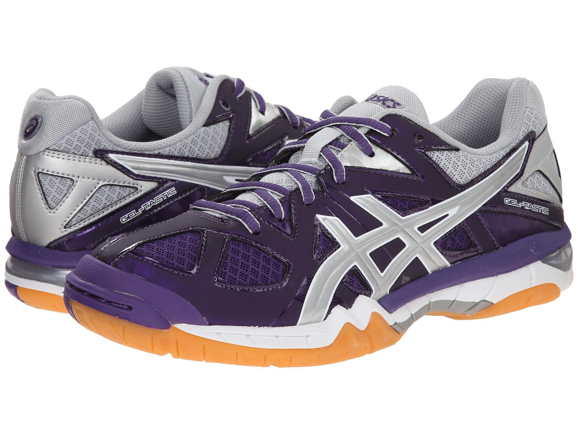 sports shoes 47c05 a698f asics-gel-tactic-women-purple-silver-white