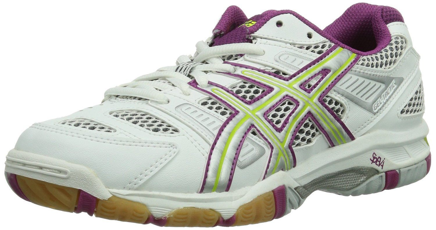 best service 18c5e be860 asics-gel-tactic-women-white-purple-green