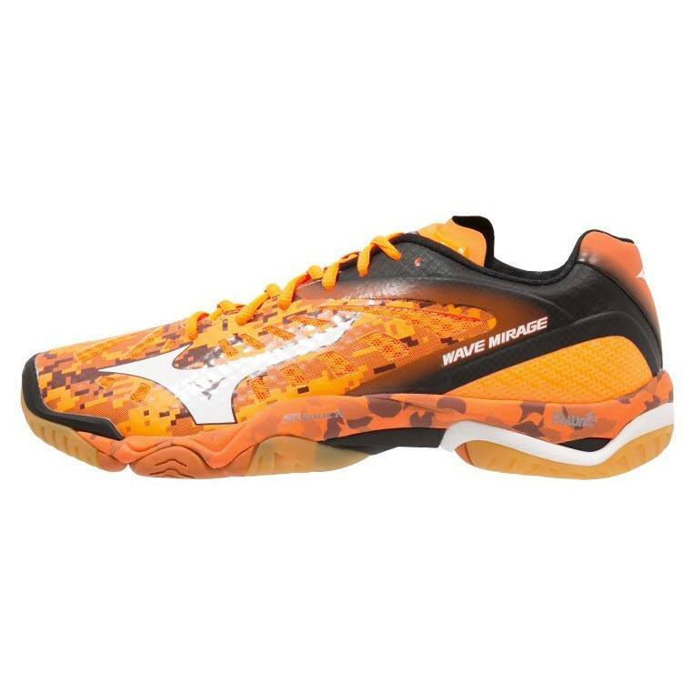 mizuno-wave-mirage-orange-white-black