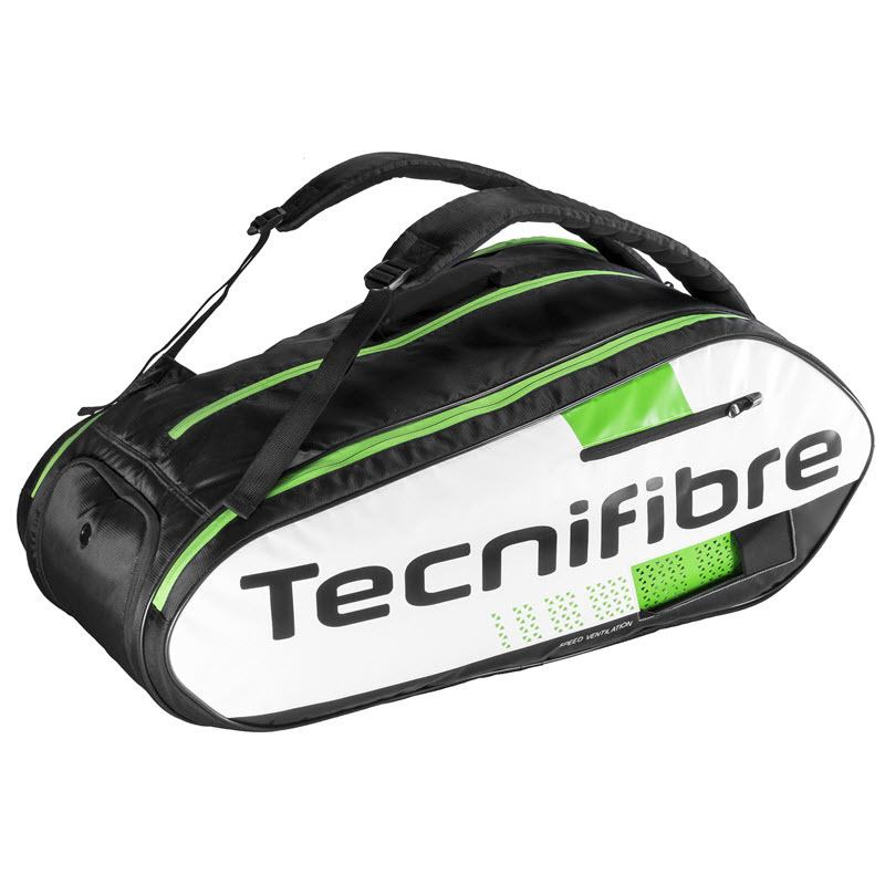 Tecnifibre Squash Green 12-Racket Bag