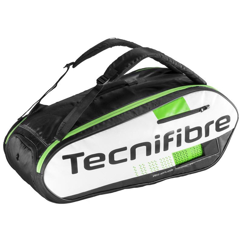 Tecnifibre Squash Green 9-Racket Bag