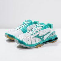 Mizuno Wave Tornado X Women - White Atlantis Harbor Blue