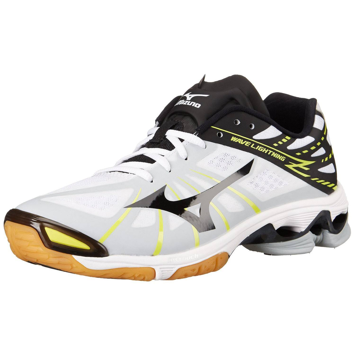 Black And White Mizuno Volleyball Shoes