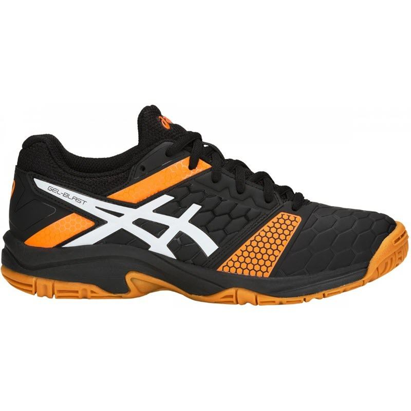 Black Blue Sports Squash Asics Boys Gel-Blast 7 GS Indoor Court Shoes