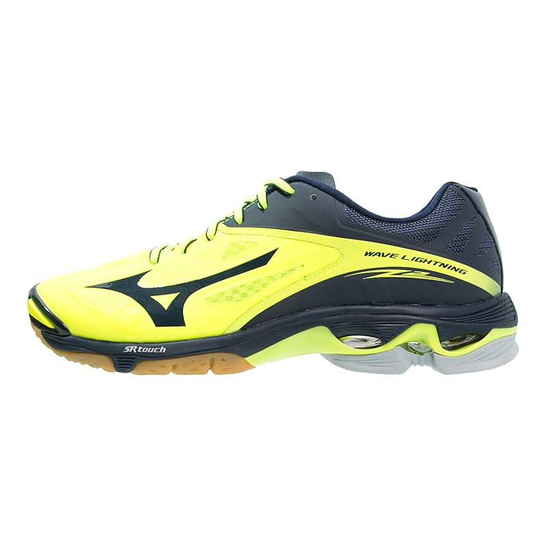 mizuno volleyball shoes black and yellow light