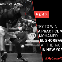 Tecnifibre Contest: Practice With Mohamed El Shorbagy at the TOC
