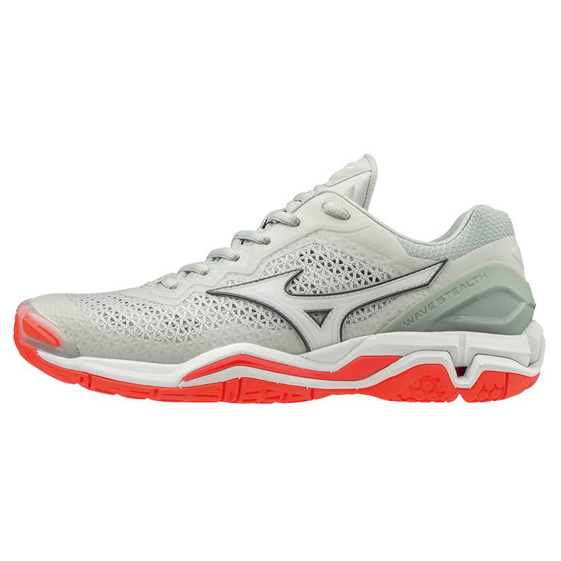 Mizuno Wave Stealth V Gray Women 2019