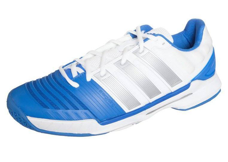 new styles 46fc8 65604 Adidas Adipower Stabil 11 Men White Blue