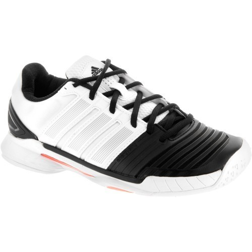 brand new e6e50 e8f48 adidas-adipower-stabil-11-women-white-black-orange
