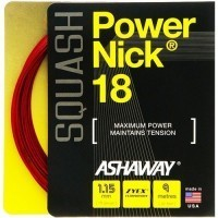 Ashaway PowerNick 18 Red Squash Strings