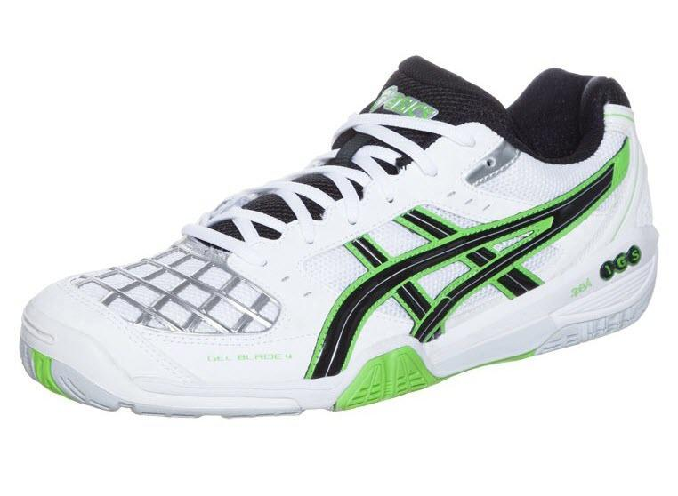 Asics Gel Blade 4 Men [White Black Green Silver]