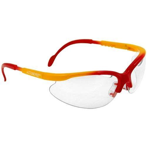 Black Knight Turbo Junior Squash Goggles - Red Yellow