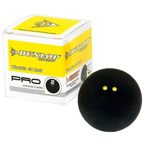 Dunlop Pro Double Yellow Dot Squash Ball [Single]