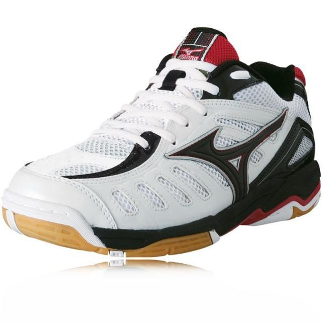 Mizuno Wave Rally 4 Men - White Black Red